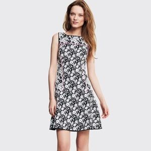 Black & White Floral Banana Republic Flip Dress